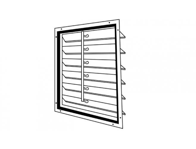 motorized supply air intake shutters